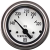 "2-1/16"" Stewart Warner Deluxe Oil Temp Gauge White"