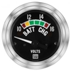 "2-1/16"" Stewart Warner Deluxe Voltmeter W/ Color Band Gauge"