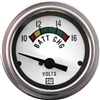 "2-1/16"" Stewart Warner Deluxe Voltmeter W/ Color Band Gauge White"