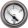"2-1/16"" Stewart Warner Deluxe Fuel Pressure Gauge 1 to 10 Mech White"