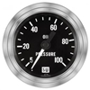 "2-1/16"" Stewart Warner Deluxe Oil Pressure Gauge 5 to 100 Mech"