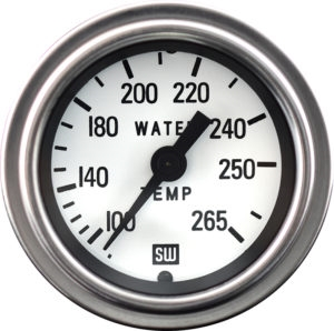"2-1/16"" Stewart Warner Deluxe Water Temp Gauge Mechanical 144 White"