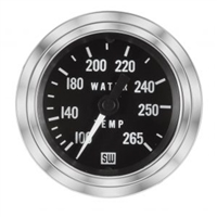 "2-1/16"" Stewart Warner Deluxe Water Temp Gauge Mechanical 60"
