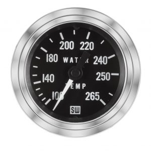 "2-1/16"" Stewart Warner Deluxe Water Temp Gauge Mechanical 96"
