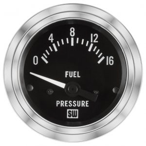 "2-1/16"" SW Deluxe Fuel Pressure Gauge 0 to 16"