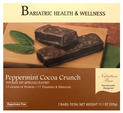 Peppermint Cocoa Crunch Bar protein bariatric diet snack food chocolate mint