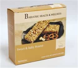 Sweet and Salty Peanut Bar protein snack bariatric diet food