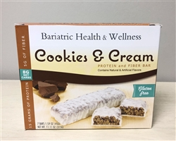 Cookies & Cream Bar protein snack bariatric diet food