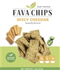 Fava Chips Spicy Cheddar diet food snack bariatric protein