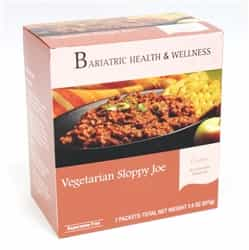 Vegetarian Sloppy Joe bariatric diet meal entree healthy protein