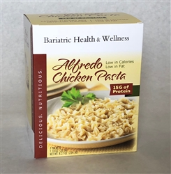 Alfredo Chicken Pasta noodles meal bariatric diet protein healthy entree