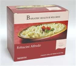 Fettuccini Alfredo Pasta low calorie protein meal bariatric diet healthy noodles