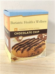 Chocolate Chip Cookie with Icing protein diet snack dessert bariatric