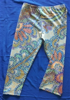 Capri Leggings-Magical Mystical Flowers