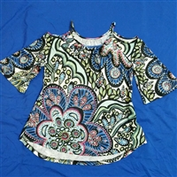 "Cold Shoulder Bell Sleeve Top-""Matisse with Love"""