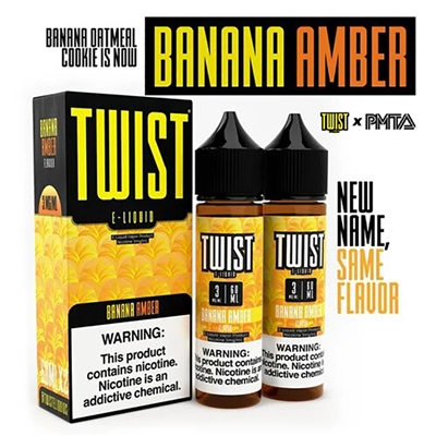 Banana Amber (formerly Banana Oatmeal Cookie) Twist E-Liquid - EJuice Connect