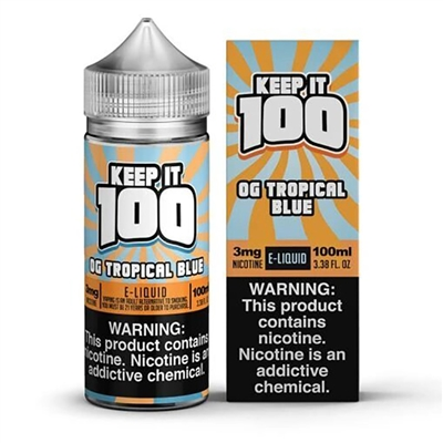 Blue Slushie Tropical by Keep it 100 E-Liquid - 100ml $11.79  - EJuice Connect