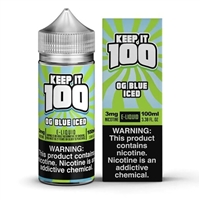 Blue Slushie ICED by Keep it 100 E-Liquid 100mL $12.99  Berry Menthol Vape  - EJuice Connect