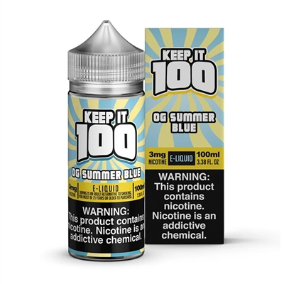 OG Summer Blue by Keep it 100 E-Liquid - 100ml $11.79  - EJuice Connect
