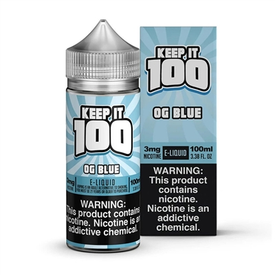 OG Blue (Blue Slushie by Keep it 100 E-Liquid - 100ml  - EJuice Connect