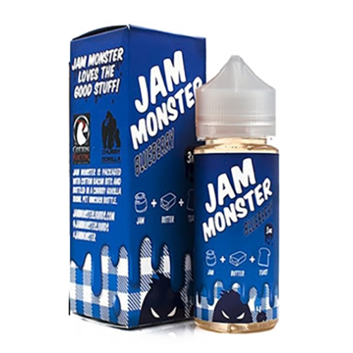 Monster Vape: Jam Monster Blueberry 100mL Vape Liquid $12.99