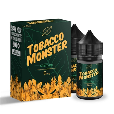 Tobacco Monster MENTHOL Salt Nicotine - 60ML (2x30mL) $11.99 - EJuice Connect