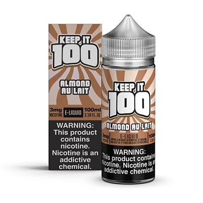 Almond Au Lait (Nilla Almond) by Keep it 100 E-Liquid - 100ml $10.99  - EJuice Connect
