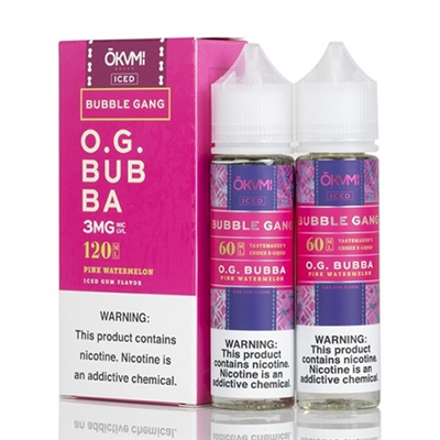 O.G. Bubba Iced by Okami Bubble Gang - 120ml $12.99 - EJuice Connect