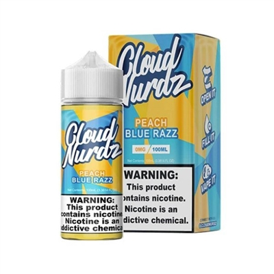 Peach Blue Razz by Cloud Nurdz E-Liquid - 100ml $10.99 - EJuice Connect