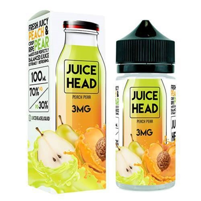 Juice Head Peach Pear E-Liquid 100mL - $12.89 - E Juice Connect
