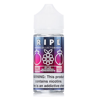 Ripe Collection Blue Razzleberry Pomegranate by Vape 100 E-Liquid - EJuice Connect