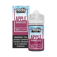 ICED REDS Berries Apple Juice by 7 Daze - 60mL Grape Apple Juice Vape $10.49  - EJuice Connect