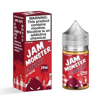 Jam Monster Strawberry Salt Nicotine 30ml E Liquid $10.99 - EJuice Connect