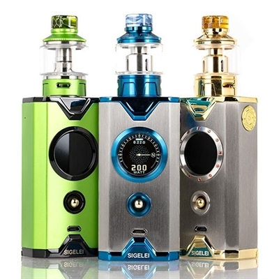 Sigelei Chronus Shikra 200W TC Starter Kit $31.95 - EJuice Connect