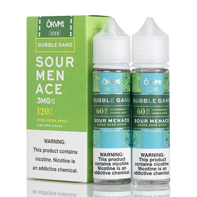 Sour Menace Iced by Okami Bubble Gang - 120ml $12.99 - EJuice Connect