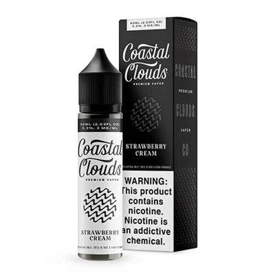 Strawberry Cream - Coastal Clouds - 60ML $10.99 - EJuice Connect