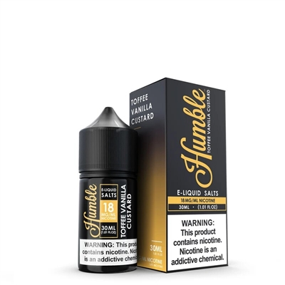 Toffee Vanilla Custard Nic Salt  by Humble Juice Co. 30mL Vapor $12.50 - EJuice Connect