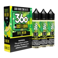 Triple Melon by 360 Twist E-Liquid (3x60) - 180mL $19.49 Vape Juice - EJuice Connect