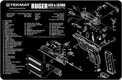 Tekmat Gun Mat For Ruger Lc9 380
