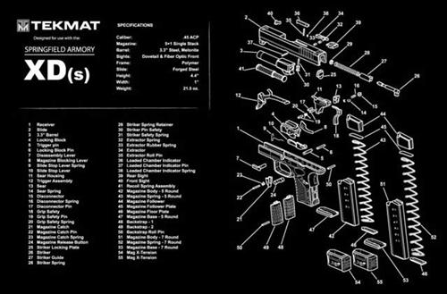 Tekmat Gun Mat For S A Springfield Armory Xds 45 9mm