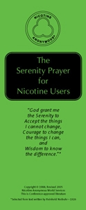Serenity Prayer for Nicotine Users