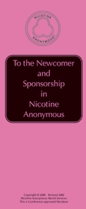 To the Newcomer and Sponsorship