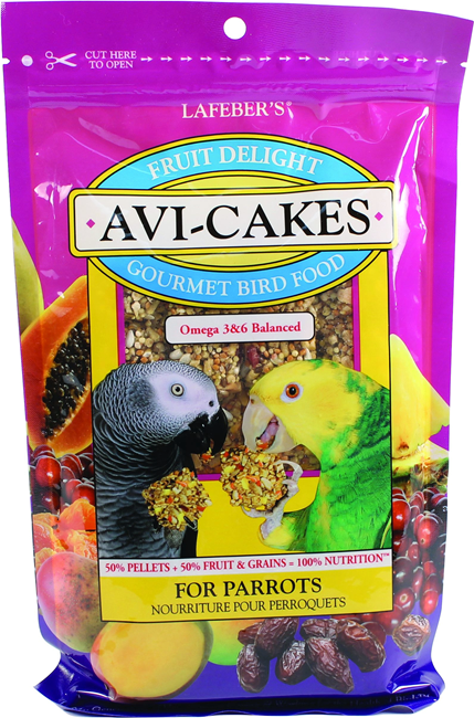 Fruit Delight Avi-Cakes for Parrots 8 oz