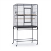 F046 Wrought Iron Flight Cage w/ Stand - Black