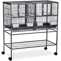 F070 Hampton Deluxe Divided Breeder Bird Cage w/Stand