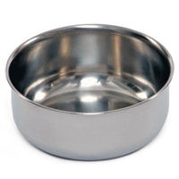 1243 Stainless Steel Shallow Replacement Bird Cage Cup