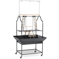3180BLK Large Parrot Playstand