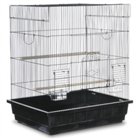 SP25212B/B  Keet/Tiel Square Roof Bird Cage - Black