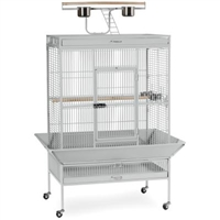 3154W Select Bird Cage - Pewter White