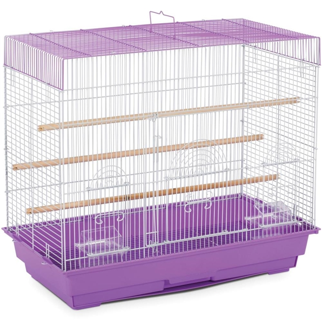 SP1804-3 Keet/Finch Flight Cage / Lilac & White